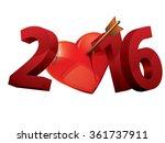 2016 year of love. 2016 heart... | Shutterstock .eps vector #361737911