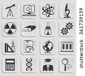 set of science stuff icon.... | Shutterstock .eps vector #361739159