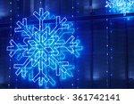 christmas lights decoration on...   Shutterstock . vector #361742141