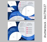 colored tri fold business...   Shutterstock .eps vector #361750127