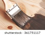 Grey Color Painting On Wooden...