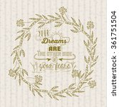 vintage message design  | Shutterstock .eps vector #361751504