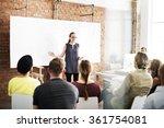 business people meeting... | Shutterstock . vector #361754081