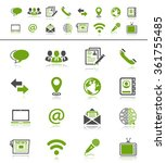 media and communication icons | Shutterstock . vector #361755485