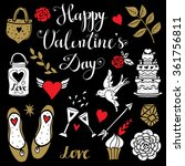 holiday valentines day  wedding ... | Shutterstock .eps vector #361756811