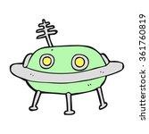 freehand drawn cartoon alien... | Shutterstock . vector #361760819