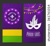 set of vector mardi gras... | Shutterstock .eps vector #361761014