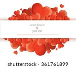print with red hearts | Shutterstock .eps vector #361761899