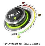 trust button set on highest... | Shutterstock . vector #361763051