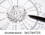 zodiac wheel with black pencil... | Shutterstock . vector #361764725