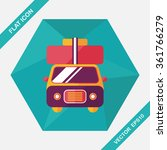 caravan car flat icon with long ... | Shutterstock .eps vector #361766279