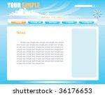 web site design  vector | Shutterstock .eps vector #36176653