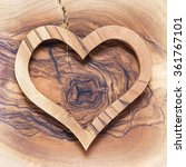 Wooden Heart On Wooden...