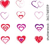 vector hearts | Shutterstock .eps vector #361768559