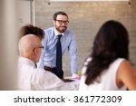 caucasian businessman leading... | Shutterstock . vector #361772309