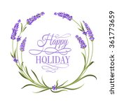 the lavender elegant frame with ... | Shutterstock .eps vector #361773659