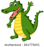 cute crocodile cartoon | Shutterstock .eps vector #361775651