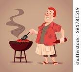 cartoon character  bbq  chef ... | Shutterstock .eps vector #361781519
