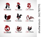 black red and brown chicken... | Shutterstock .eps vector #361785791