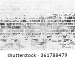 Old Brick Wall With Damaged...