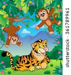 Animals In Jungle Topic Image ...