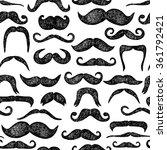 mustaches seamless pattern.... | Shutterstock .eps vector #361792421