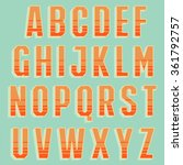 vector retro alphabet for... | Shutterstock .eps vector #361792757