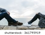 legs of a young couple with... | Shutterstock . vector #361795919
