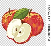 Постер, плакат: Apple isolated Vector Apple