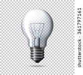 transparent vector realistic... | Shutterstock .eps vector #361797161