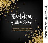 golden glitter stars. abstract... | Shutterstock .eps vector #361798631