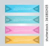 business infographics tabs... | Shutterstock .eps vector #361802435