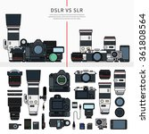Thin Line Flat Design Of Dslr...