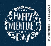 happy valentines day card.... | Shutterstock .eps vector #361813025