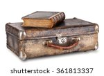 An Old Book On A Suitcase...