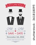 gay wedding invitation. card... | Shutterstock .eps vector #361818095