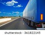 truck on a highway | Shutterstock . vector #361822145