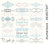 set of hand drawn colorful... | Shutterstock .eps vector #361827347