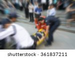 blurred of  many working people ... | Shutterstock . vector #361837211