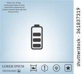battery   vector icon | Shutterstock .eps vector #361837319