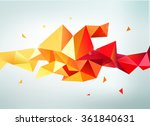 vector abstract colorful orange ... | Shutterstock .eps vector #361840631