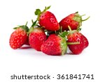 strawberry isolated on white... | Shutterstock . vector #361841741
