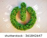 Clean green eco energy concept - stock photo