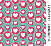 heart seamless pattern. vector... | Shutterstock .eps vector #361842665