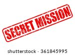 secret mission red stamp text... | Shutterstock .eps vector #361845995