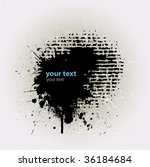 ink splat overlayed by halftone ... | Shutterstock .eps vector #36184684