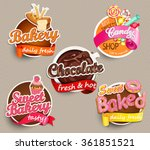 food label or sticker   bakery  ... | Shutterstock .eps vector #361851521