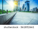 empty  modern square and... | Shutterstock . vector #361852661