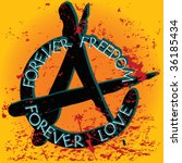 anarchy illustration  vector art   Shutterstock .eps vector #36185434