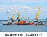 bunker ship  fuel replenishment ... | Shutterstock . vector #361856549